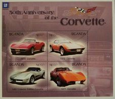O) 2003 UGANDA, SPORT CARS- CORVETTE. SOUVENIR MNH - Uganda (1962-...)