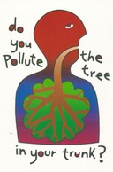 Postcard Of Poster Polluting The Tree In Your Trunk Promoting Healthy Lungs Medicine Medical Interest My Ref  B22900 - Health