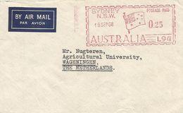 "Australia 1968 Sydney Meter Universal Postal Frankers ""Multi-Value"" L94  EMA Cover - 1966-79 Elizabeth II"