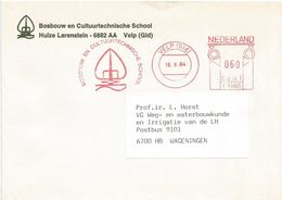 "Nederland Netherlands 1984 Velp Meter Postalia ""P"" PR4665 Forestry School  EMA Cover - Marcofilie - EMA (Print Machine)"