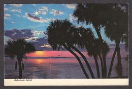 91634/ LUMIERE, Coucher De Soleil, Bahamian Sunset - Contre La Lumière