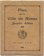 NIMES - Plan De La Ville De 1938 - Disegno Tecnico
