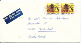 Singapore Cover Sent To Switzerland 27-11-1987 - Singapore (1959-...)