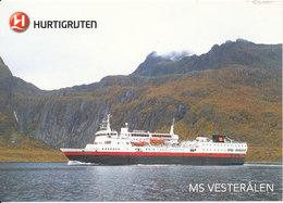 Norway Postcard Sent To Germany 7-11-2013 MS Vesteralen Hurtigruten Honningsvag - Nordkapp - Norway