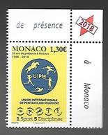Monaco 2018 - Yv N° 3158 ** - 20 Ans De Présence à Monaco De L'UIPM - Unused Stamps