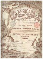 Action Ancienne - L'Africaine - Banque D'Etudes Et D'Entreprises Coloniales - Titre De 1898 - DECO - Rare - Afrique