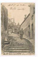 CPA (39)  SALINS LES BAINS.L'escalier D'arçon L'église. (B.266) - Francia