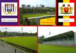 2) AK Stadion Postkarte Heysel Klein Brussels Brüssel Bruxelles RSC Anderlecht Brussels Stadium Postcard België Belgique - Fussball