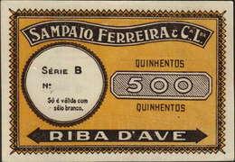 CÉDULA DE 500 -SÉRIE B -SAMPAIO FERREIRA & Cª.LDA.-RIBA D`AVE - Portugal