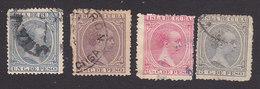 Cuba, Scott #134, 142-144, Used, King Alfonso XIII, Issued 1890 - Cuba (1874-1898)