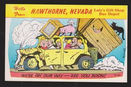 Comic Postcard - Hello From Hawthorne, Nevada - Unused - Comics