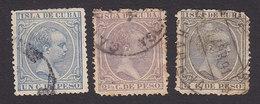 Cuba, Scott #134, 142, 144, Used, King Alfonso XIII, Issued 1890 - Cuba (1874-1898)
