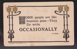 Comic Postcard - Some People Write Occasionally - Used 1911 - Comics