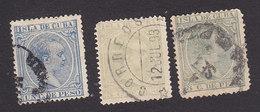 Cuba, Scott #134, 144-145, Used, King Alfonso XIII, Issued 1890 - Cuba (1874-1898)