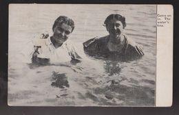 Comic Postcard - 2 Women In Water - Come On In - Used 1909 - Comics