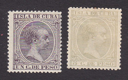 Cuba, Scott #135, 144, Mint Hinged, King Alfonso XIII, Issued 1890 - Cuba (1874-1898)