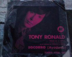 Lote De Cuatro Sencillos Argentinos De Tony Ronald - Vinyl Records