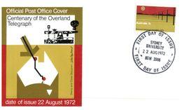 (345) Australia FDC Cover - 1972 - Telegraph - FDC