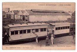 2409 - Côte D'Ivoire ( A.O.F. ) - Abidjan ( Ville ) - Un Train En Gare - Coll. L.Météyer à Grand-Bassam - N°56 - - Côte-d'Ivoire