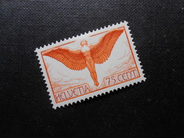 CH ZNr.11z  75C*MLH  Flugpost - 1936 - Z CHF 70.00 - Nuevos