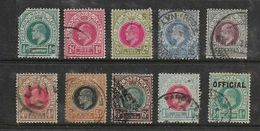 Natal, EVIIR, 10 Used Stamps To 1/= Used - Zuid-Afrika (...-1961)