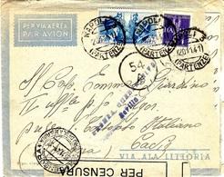 1941 -lettre De NAPOLI Pour Cadiz ( Espagne ) Censures Italienne ( De La Marina ) Et De SEVILLA - Marcophilia