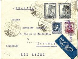 1938 - Enveloppe De TETUAN  Par Avion Pour La France -affr. à 2,75 P. - 1931-Aujourd'hui: II. République - ....Juan Carlos I