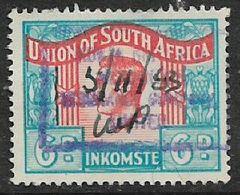 S.Africa 1950, George VI, 6d, Language Error, Revenue Stamp, Used, 1949 - Zuid-Afrika (...-1961)