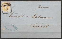 Italie - LSC 1864 De FIUME [FIUME/12/2] Pour TRIEST (au Dos: [TRIEST/12/5] - 1861-78 Vittorio Emanuele II