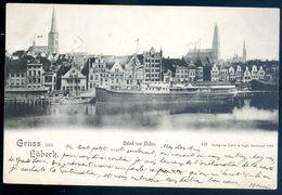 Cpa Allemagne Gruss Aus Lübeck   Aout18-6 - Luebeck