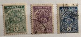 BULGARIA  1889/... 3 Valori - 1879-08 Principato