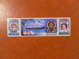 TIMBRE DU BELIZE MICHEL 825/827 VISITE ROYALE** - Belize (1973-...)