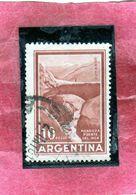 ARGENTINA 1959 1970 1960 INCA BRIDGE MENDOZA PESOS 10p USATO USED OBLITERE' - Argentina