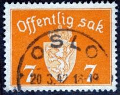 Norway 1941   Minr.34  Oslo  20-3-1942  (Lot  E 195 ) - Service