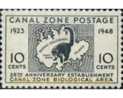 Ref. 350159 * MNH * - PANAMA. CANAL ZONE. 1946. 25 ANIVERSARIO ESTABLECIMIENTO CANAL ZONE BIOLOGICAL AREA - Panama