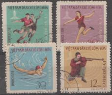 NORTH VIETNAM - 1966 Sports. Scott 442-445. Used - Vietnam