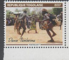 TOGO, 2017, MNH, LOCAL CULTURE,  DANCES, TAMBERNA DANCE, 1v - Dance