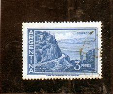 ARGENTINA 1959 1970 1960 CATAMARCA CUESTA DE ZAPATA SLOPE PESOS 3p USATO USED OBLITERE' - Argentina