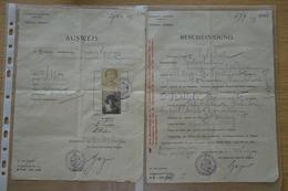 Ausweis D'un Jour 1915 Maastricht Canne Kanne Frontière (Riemst) Sprimont - Historische Dokumente