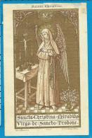 Holycard    St. Augustin   117    St.  Christina Miabilis   St. Truiden - Images Religieuses