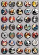 JIM REEVES Music Fan ART BADGE BUTTON PIN SET 1 (1inch/25mm Diameter) 35 DIFF - Musique