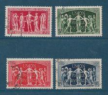 France Timbres De 1949  N°849 A 852 Oblitérés - France
