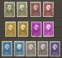 Pays-Bas 1969/72 - Juliana, Grand Format - Petit Lot De 13 Timbres Oblitérés - Papiers Différents - 1949-1980 (Juliana)