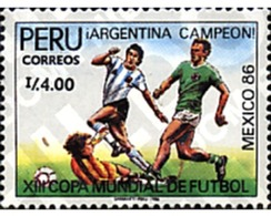 Ref. 27084 * MNH * - PERU. 1987. FOOTBALL WORLD CUP. MEXICO-86 . COPA DEL MUNDO DE FUTBOL. MEXICO-86 - Peru