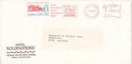 Denmark Cover  Kolding 14-20-1990 With Meter Cancel And Christmas Seal Cancel + Local Christmas Seal - Denmark