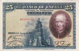 Spain 25 Pesetas, P-74b (15.8.1928) - EF/XF - [ 1] …-1931: Erste Ausgaben (Banco De España)