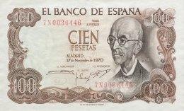 Spain 100 Pesetas, P-152 (17.11.1970) - AU - [ 3] 1936-1975: Franco
