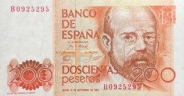 Spain 200 Pesetas, P-156 (16.9.1980) - EF/XF - [ 4] 1975-… : Juan Carlos I