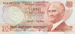 Turkey 20 Lirasi, P-187a (1974) - EF/XF+ - Türkei