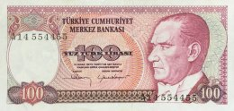 Turkey 100 Lirasi, P-194a (1984) - EF/XF - Türkei
